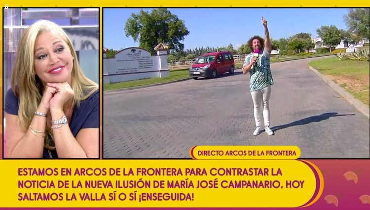 El reportero celebró entrar al recinto mientras Belén esteban sonreía / Telecinco.es