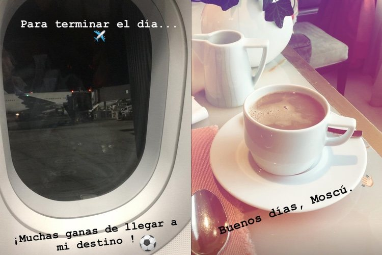Las imágenes de Sara Carbonero anunciando que está en Rusia/ Fuente: Instagram