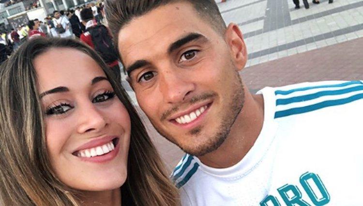 Álvaro y Claudia Hierro en Kiev para ver al Real Madrid | Fuente: Instagram