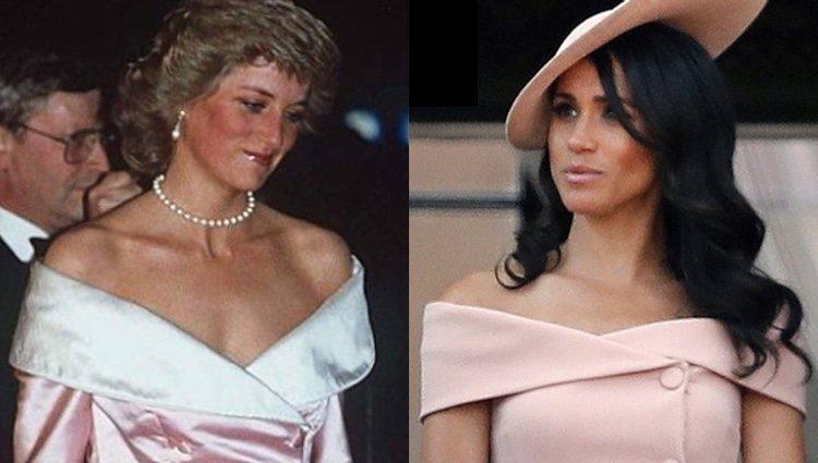 El parecido entre los vestidos de Lady Di y Meghan Markle