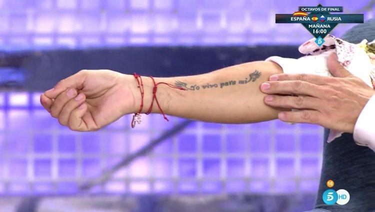 El tatuaje con el que Joao define su relación con Luismi / Telecinco.es