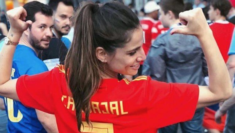 Lucía Villalón con la camiseta de Dani Carvajal | Fuente: Instagram Lucía Villalón