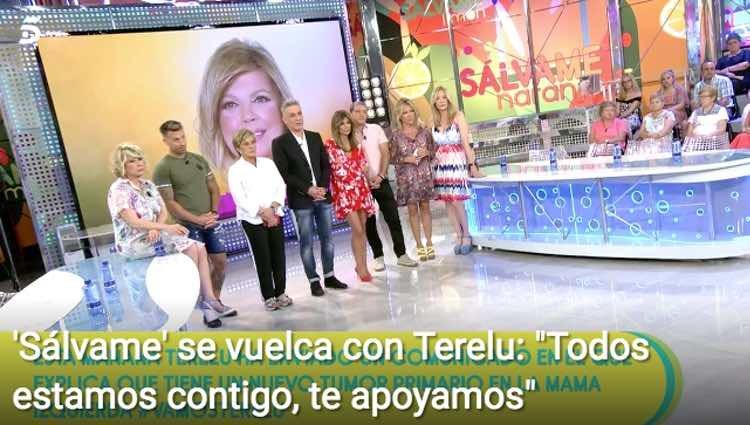 'Sálvame' se vuelca con su compañera Terelu Campos / Telecinco.es