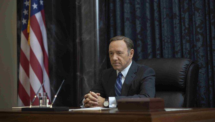 Kevin Spacey en el rodaje de 'House of Cards' (Netflix)
