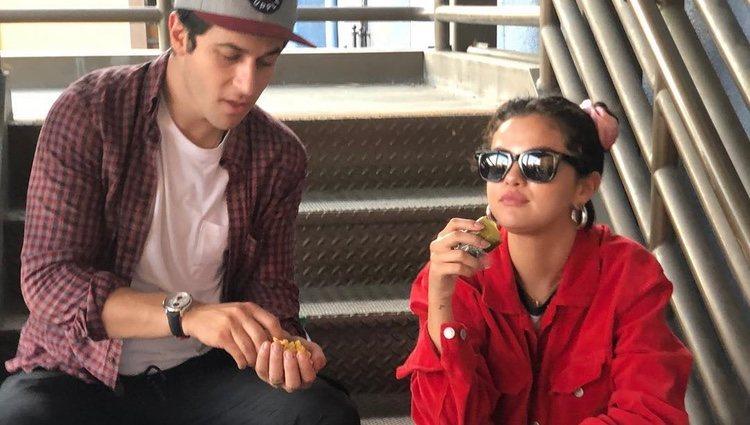 Selena Gomez y David Henrie durante el 4 de julio / Fuente: Instagram