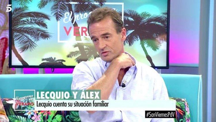 Alessandro Lequio hablando de la salud de su hijo/ Fuente: telecinco.es