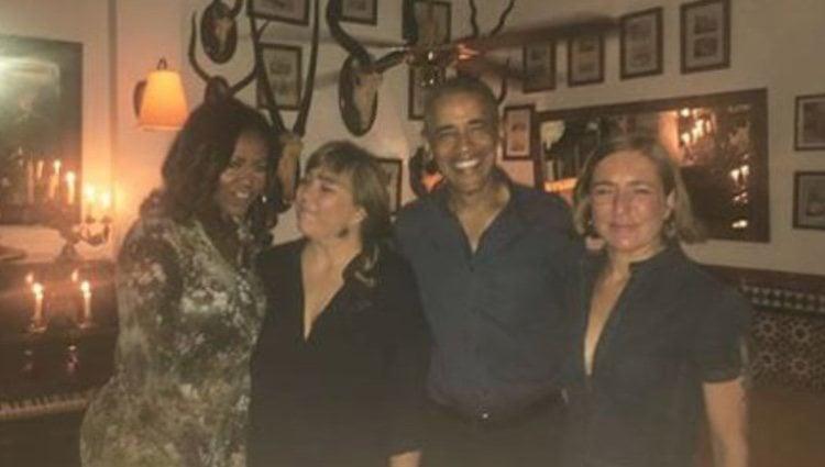 Michelle y Barack Obama en el restaurante La Parra/ Fuente: Instagram