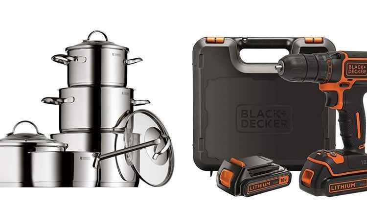 Batería de cocina y taladro atornillador