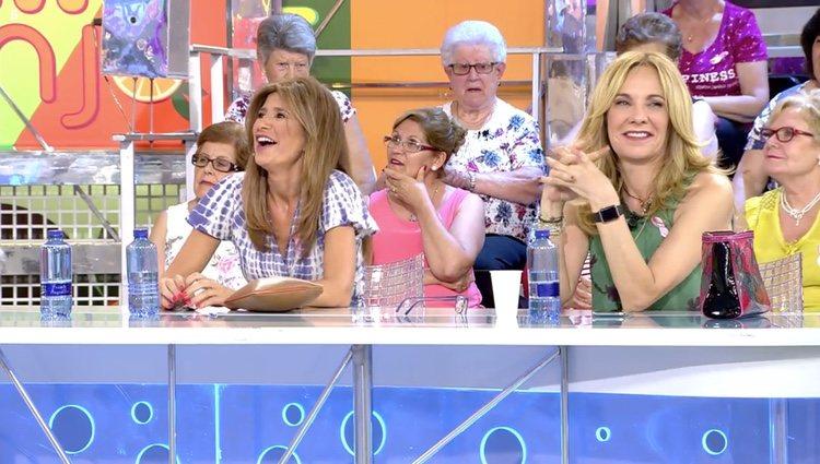 Gema López y Belén Rodríguez celebran la victoria de Kiko Hernández / Telecinco.es