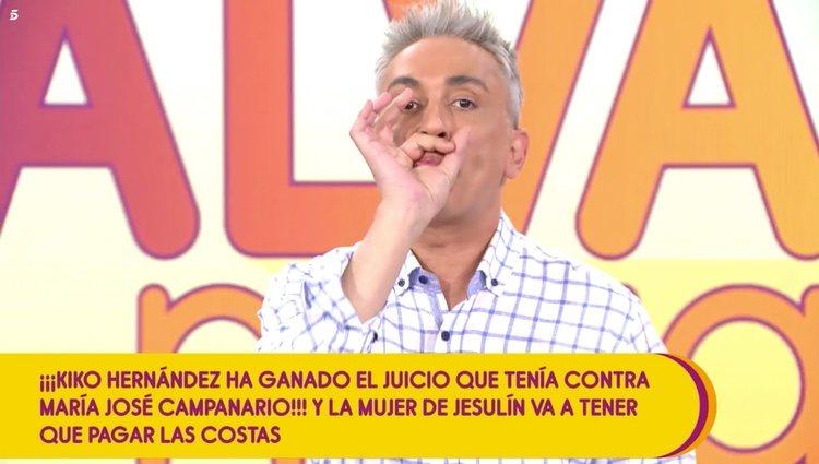 Kiko Hernández dedica una pedorreta a María José Campanario / Telecinco.es