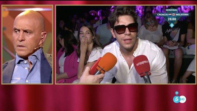 Kiko Matamoros observa un reportaje de Diego Matamoros en 'Sálvame' / Telecinco.es