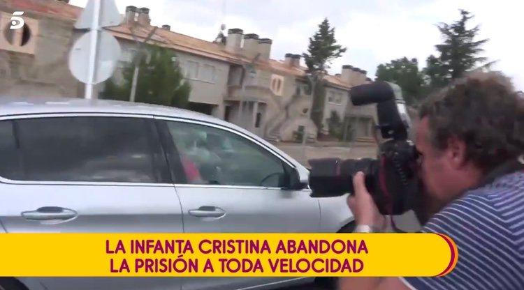 La Infanta Cristina y Pablo Urdangarin tras su visita a Urdangarin en la cárcel