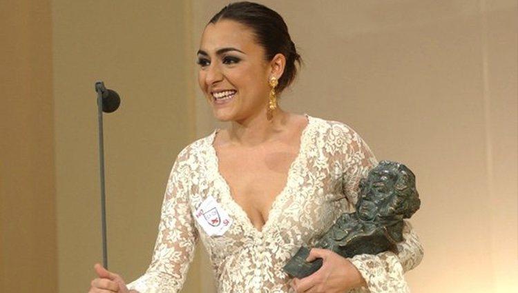 Candela Peña recoge su primer Goya por 'Te doy mis ojos'