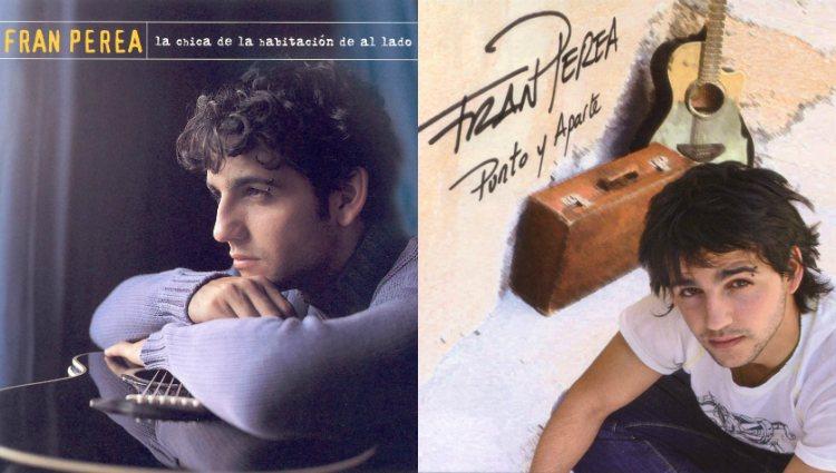 Fran Perea en la portada de sus dos primeros álbumes de estudio