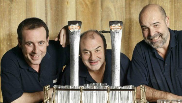 Antonio Molero, Jesús Bonilla y Antonio Resines en la serie de Telecinco 'Los Serrano'