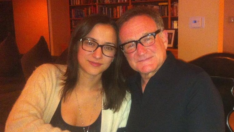 Zelda y Robin Williams cenando / Instagram