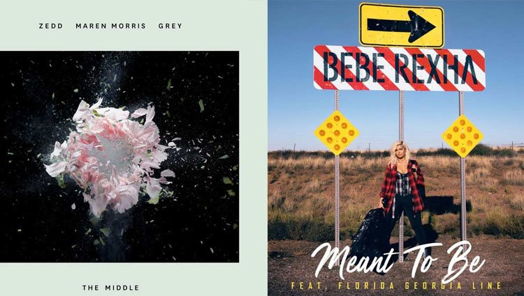 'The Middle' con Zedd, Maren Morris y Grey o 'Meant to Be' de Bebe Rexha y Florida Georgia Line bien podrían estar nominadas a los Grammy 2019