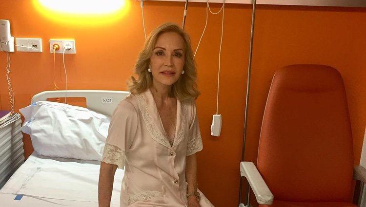 Carmen Lomana en el hospital / Instagram