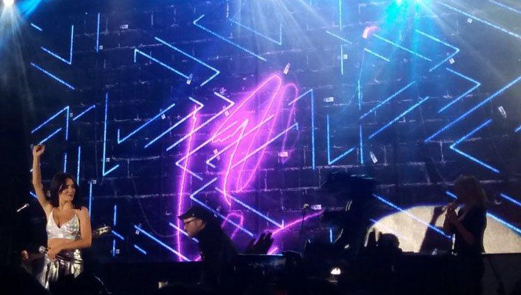Lali Espósito durante su concierto en Madrid