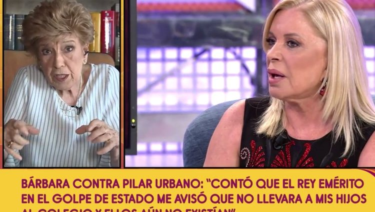 Pilar Urbano habla sobre Bárbara Rey en 'Sálvame'/Fuente:Telecinco