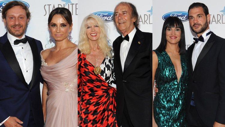 Juan Peña, Gunilla von Bismarck e Irene Villa en la Gala Starlite de Marbella 2018