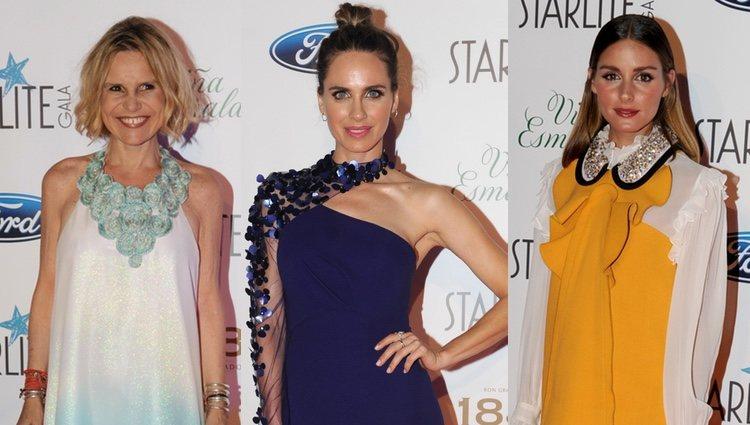 Eugenia Martínez de Irujo, Vanesa Romero y Olivia Palermo en la Gala Starlite de Marbella 2018