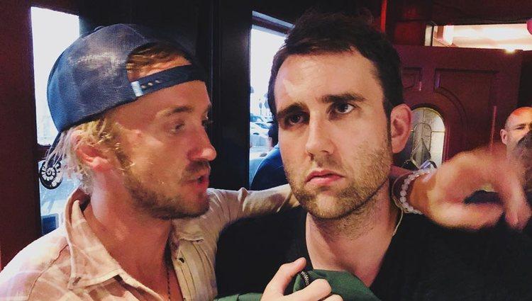 Los dos actores haciendo que se odian / Foto: Instagram