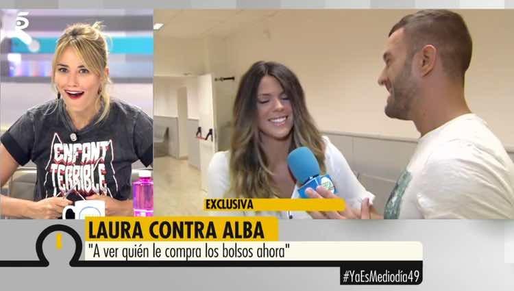 Alba Carrillo alucinando con las palabras de Laura Matamoros / Telecinco.es