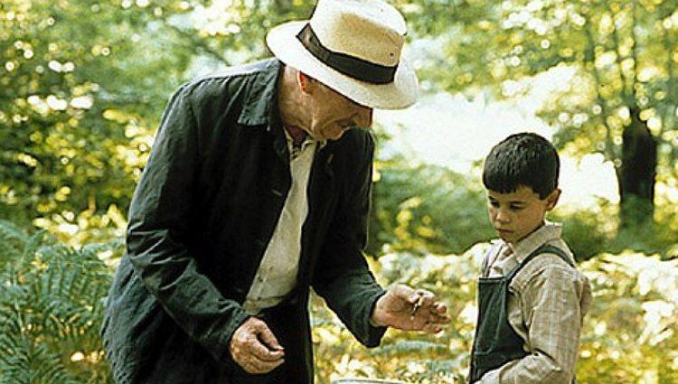 Fernando Fernán Gómez y Manuel Lozano en una escena de 'La lengua de las mariposas'