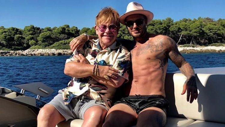 David Bekcham y Elton John de vacaciones al sur de Francia | Foto: Instagram David Beckham