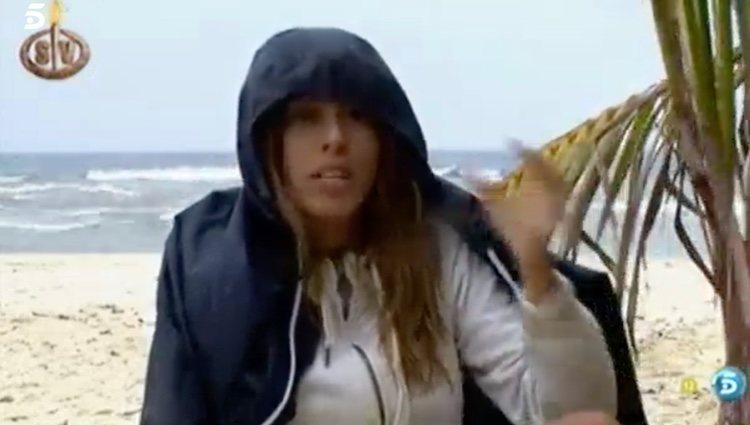 Oriana comunicando que se iba de 'Supervivientes' / Foto: telecinco.es
