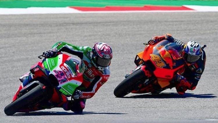 Los hermanos Espargaró en una carrera de MotoGP   Foto: Instagram Aleix Espargaró