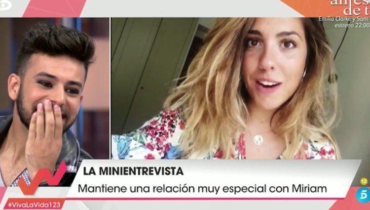 Miriam sorprendió a Agoney con unas palabras e cariño / Foto: Telecinco
