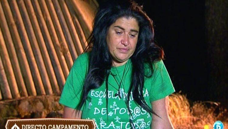 Lucía Etxebarría diciendo que se marcha del concurso / Foto: telecinco.es