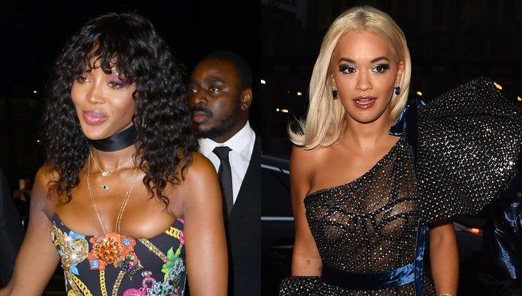 Naomi Campbell y Rita Ora en su llegada a los Premios GQ 2018