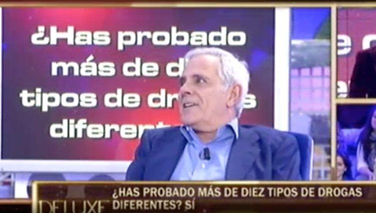 Fotograma de uno de sus polideluxe donde habla de las drogas / Telecinco.es