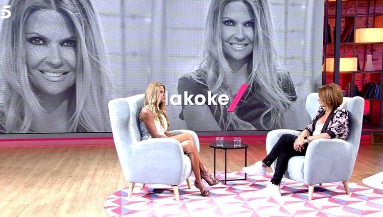 Makoke durante su entrevista con Toñi Moreno / Foto: Telecinco.es