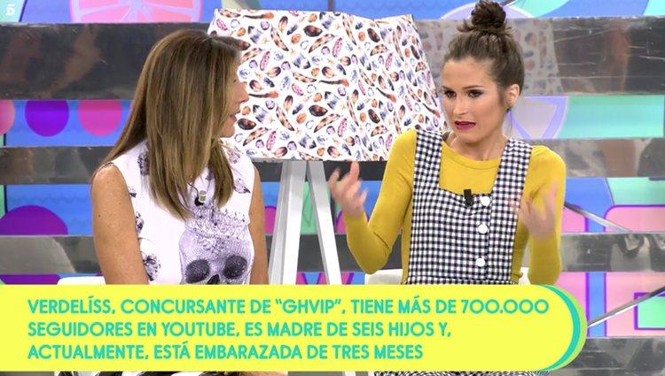 Esta fue la primera aparición en televisión de Verdeliss desde su confirmación / Foto: Telecinco
