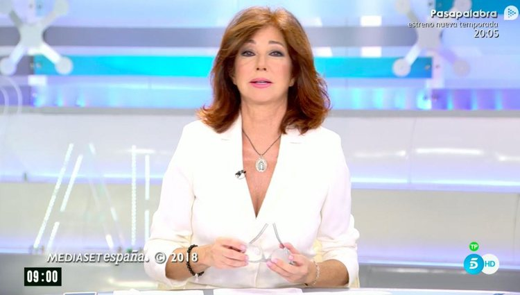 Ana Rosa Quintana habló de todo ello en su programa / Foto: Telecinco