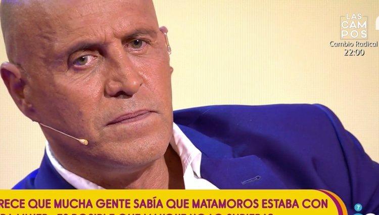 Kiko Matamoros confesando su deslealtad / Foto: telecinco.es