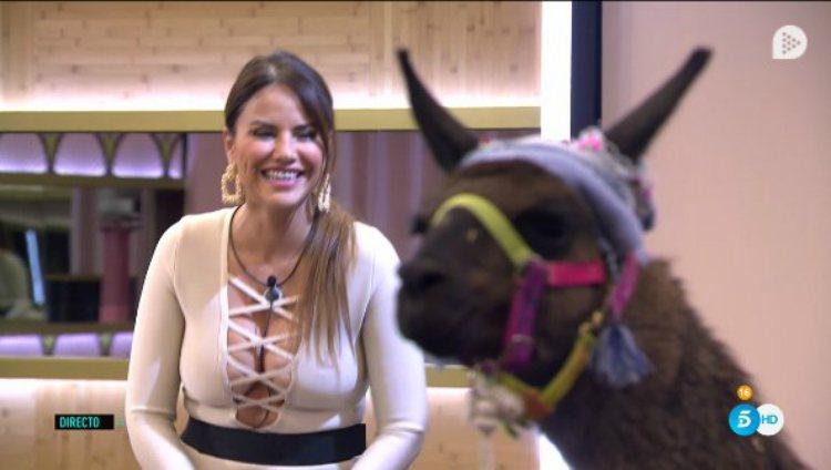 Mónica Hoyos respira al ver que la compañera de Perú es una llama y no Miriam Saavedra | telecinco.es