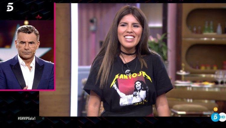 Chabelita Pantoja con la camiseta de su madre / Foto. telecinco.es
