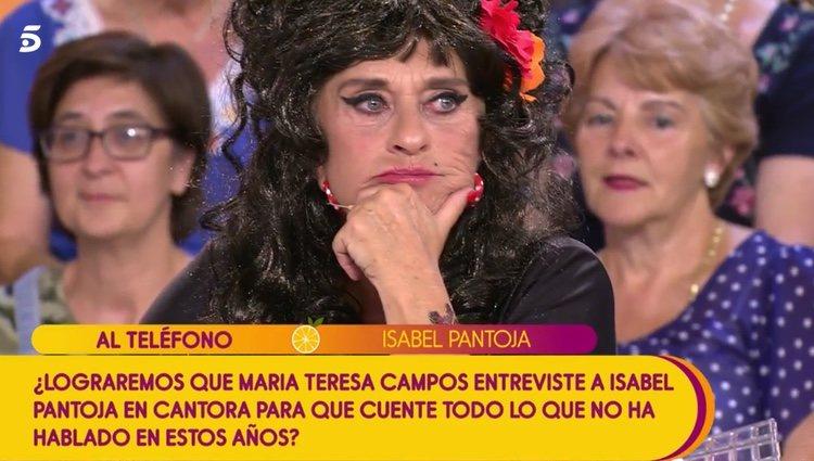 Isabel Pantoja llama a 'Sálvame' gracias a Chelo García Cortés | Foto: Telecinco.es