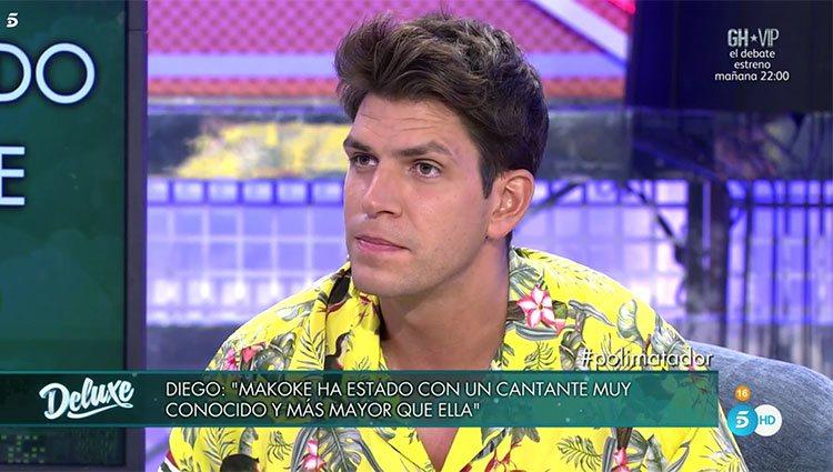Diego Matamoros hablando de Makoke en 'Sábado Deluxe' / Telecinco.es