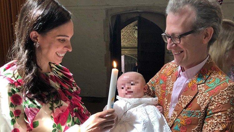 Ashley Hicks y Kata de Solis en el bautizo de su hijo, Caspian / Instagram