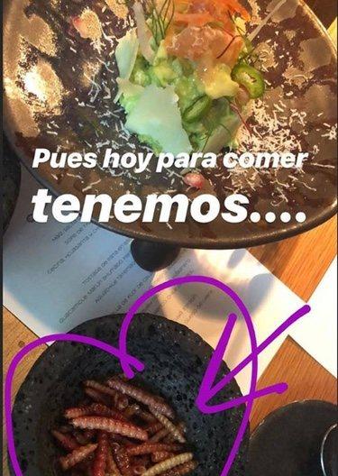 Los platos que ha comido Eva González/ Foto: Instagram