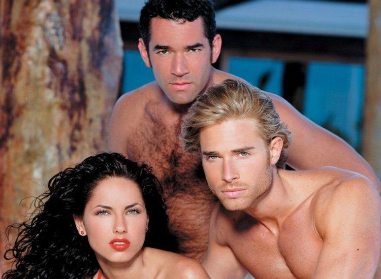 Los tres protagonistas de 'Rubí'