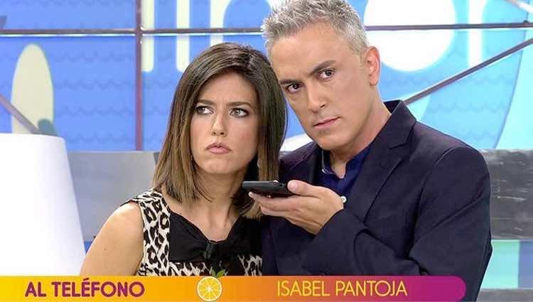 Kiko Hernández y Nuria Marín hablando con Isabel Pantoja / Telecinco.es