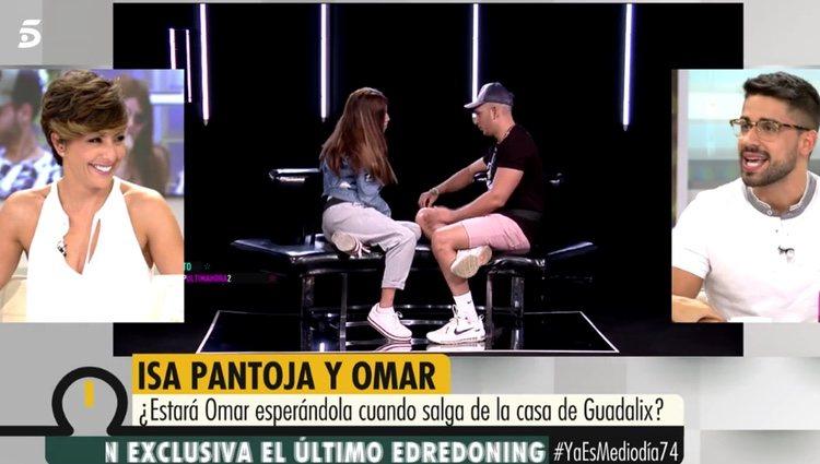 Miguel Frigenti hablando de Omar Montes y Sofía Suescun / Foto: Telecinco.es