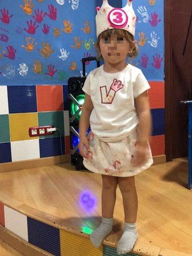 La pequeña Valeria durante la celebración de su cumpleaños / Instagram
